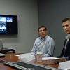 GW Law students Douglas Noreen and Sergy Basyuk (with Nathaniel Marotta and Claire Duggan) participated in the video conference that included dialogue on each nation's ideas on the civic duty of jury duty, reasonable doubt, and overincarceration, among other topics.