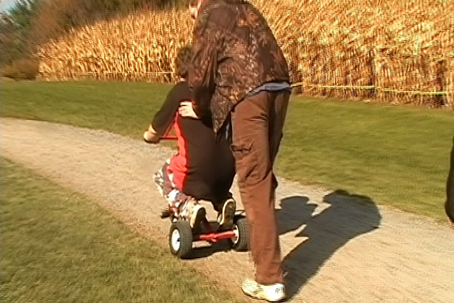 Mike pulls a fail on the Children's Grand Prix Tricycle track!