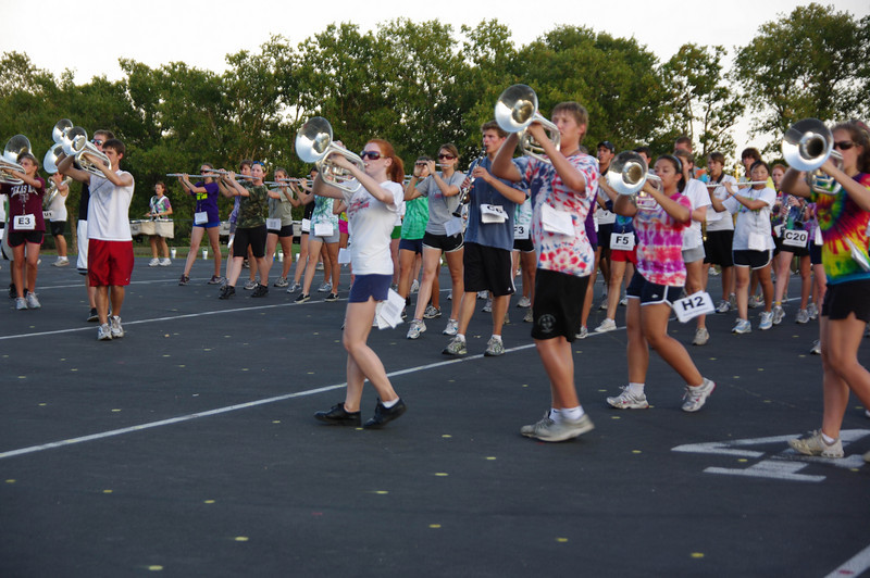 August 2009 Marching Band Practice