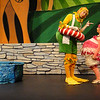 Duck (Andres Alcala) lectures Bird (Michelle Cunneen) in Childsplay's Peter and the Wolf  <br /> Photo Credit: Childsplay