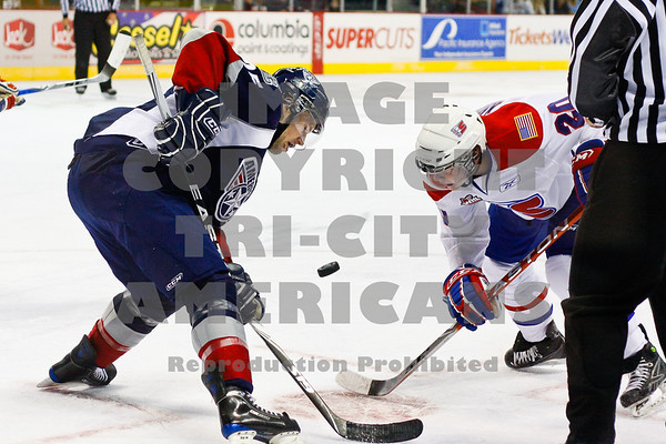 Neal Prokop face off with Steve Kuhn in the 1st period