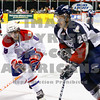 Chiefs Brenden Kichton tries to beat Americans Neal Prokop to the puck in the 1st period