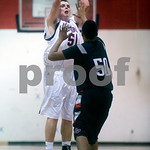 Dec. 8, 2009 - Albemarle's Jake Hendrix (51) shoots past Brooke Point's #50 (not on roster). <br /> photo Ashley Twiggs