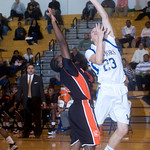 Western's Travis Hester shoots against Charlottesville. photo Ashley Twiggs