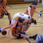 Western's Ellen Shaffrey and Charlottesville's Olivia Levine look for a loose ball. photo Ashley Twiggs