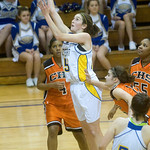 Western's Ellen Shaffrey shoots against Charlottesville. photo Ashley Twiggs