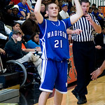 Madison's Trey Hensley (21) looks to pass the ball during a game against Charlottesville. photo Ashley Twiggs