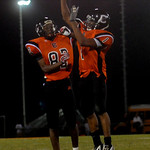 Charlottesville's Maurice Jackson, right, and Adrian Thurston, left, celebrate during a game against Western. photo Ashley Twiggs