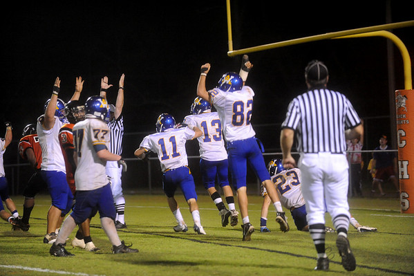 Western celebrates a touchdown against Charlottesville. photo Ashley Twiggs