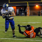 Western's Cody Davis gets past Charlottesville's Tyrell Vaugn (31) and Raymond Parker (11). photo Ashley Twiggs