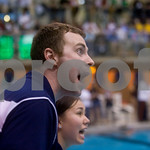 Jan. 5, 2010 - Covenant's Rob Blosser and Mariko Schaper cheer for their swimmers during the 50 Free. photo Ashley Twiggs