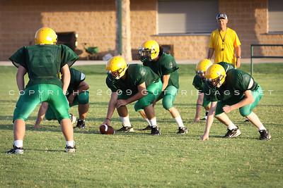 Football Practice: Week of Aug. 10