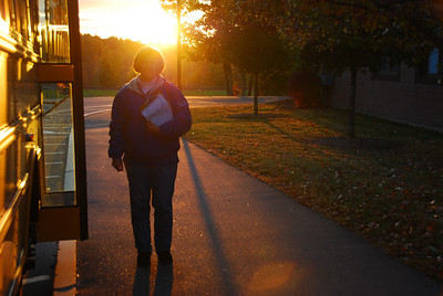 As the sun sets, FOMMIES get down to business checking students in