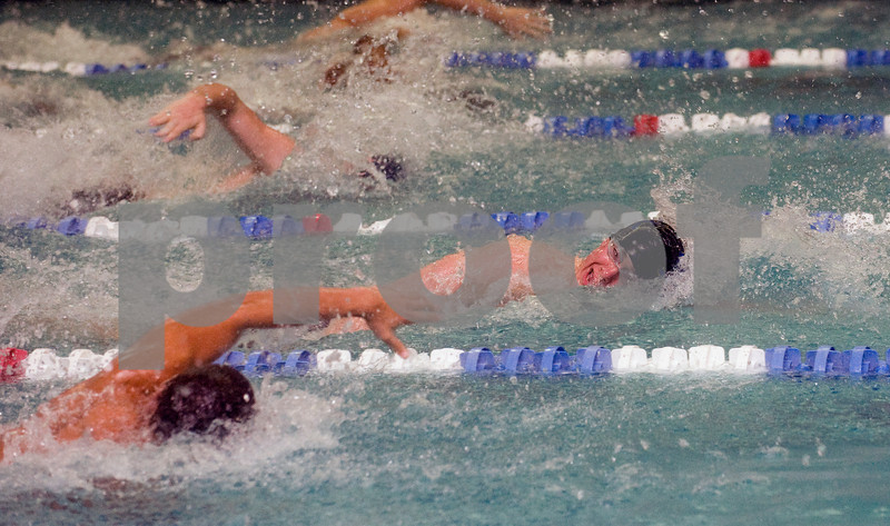 Feb. 12, 2010 - Western's Jim Shelley swims the 50 M Free during the JD Championships on Friday night at FUMA. photo Ashley Twiggs