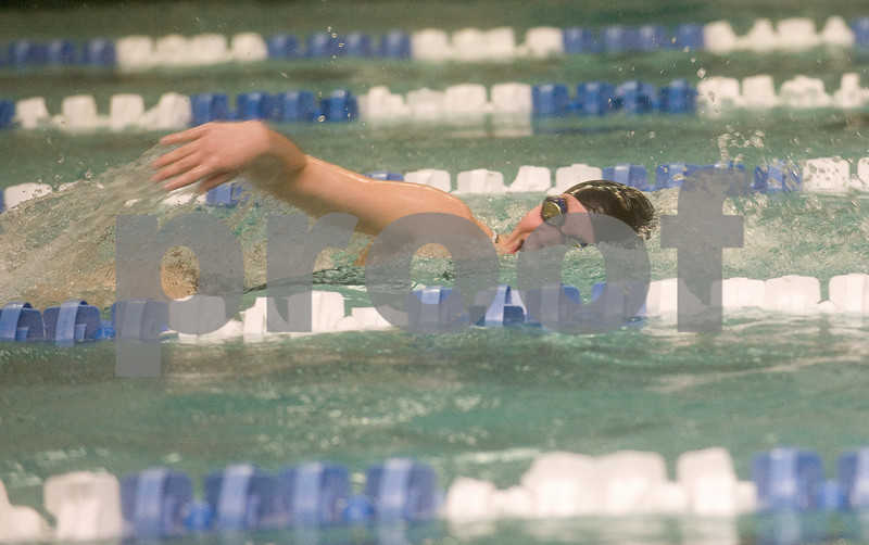 Feb 12, 2010 - William Monroe's Alex Cave swims the 100 M Free during the JD Championships. photo Ashley Twiggs