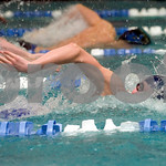 Feb. 12, 2010 - Orange County's Justin Barden swims the 100 M Free during the JD Championships on Friday night at FUMA. photo Ashley Twiggs