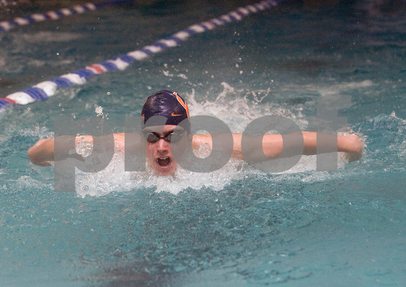 Feb 12, 2010 - Orange County's Montes de Oca swims the 100 M Fly during the JD Championships. photo Ashley Twiggs