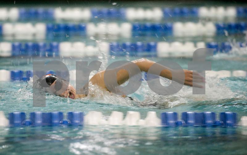Feb. 12, 2010 - Charlottesville's Dania Jazouli swims the 400 M Free during the JD Championships on Friday night at FUMA. photo Ashley Twiggs