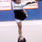 Jenny Flores competes with Monticello during the Jefferson District Cheerleading Championships. photo Ashley Twiggs