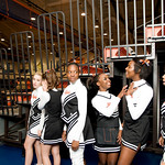 Charlottesville High School Cheerleaders prepare to compete in the Jefferson District Champtionships. photo Ashley Twiggs