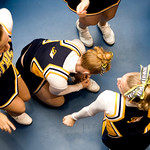 Fluvanna Co. High School Cheerleaders wait backstage to compete in the Jefferson District Champtionships. photo Ashley Twiggs