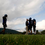 Blue Ridge returns to the sidelines between plays during a game against Liberty. photo Ashley Twiggs