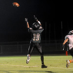 Brandon Payne (19) completes a pass for a touchdown against Charlottesville. photo Ashley Twiggs