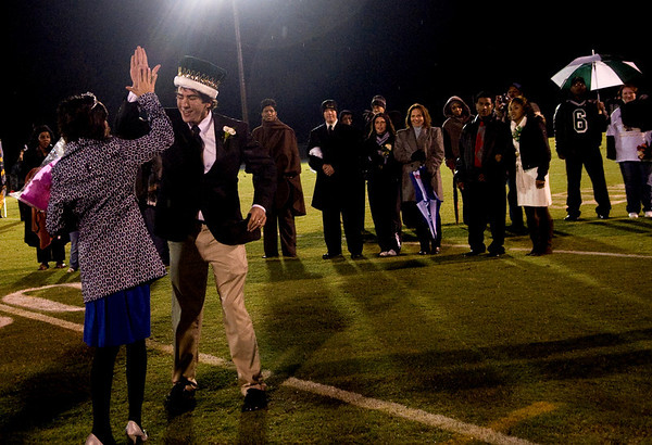 Louisa County Homecoming King and Queen receive their crowns during a game against Charlottesville on Friday night. photo Ashley Twiggs