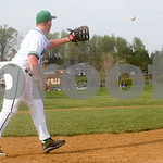 April 7, 2010 - William Monroe First Base (# 12, I think but I can't tell from this sequence of photos--in others it looks like #12 is on first)<br /> photo Ashley Twiggs