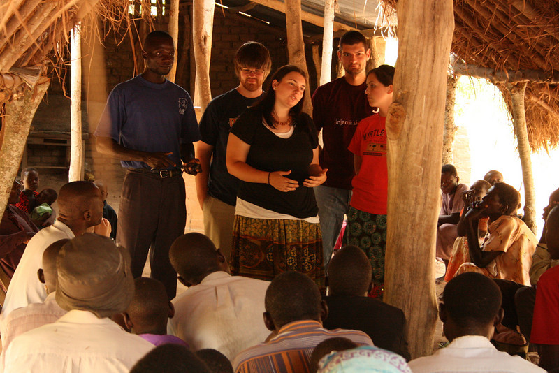 RC students on mission trip in Jinja, Uganda (West Africa)