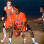 Dondre Jackson holds the ball for Woodberry. photo Ashley Twiggs