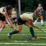 Sept. 14, 2009, Charlottesville, Va. - Monticello's Darcy Alimenti (10), left, tries to take the ball from Louisa's Laura Winant (7). photo Ashley Twiggs