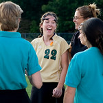 Sept. 14, 2009, Charlottesville, Va. - Louisa County's Michelle Best (22) talks to officials before a game against Monticello. photo Ashley Twiggs