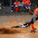 April 6, 2010 - Monticello High School<br /> Monticello #17 comes in for a run against Orange.<br /> photo Ashley Twiggs