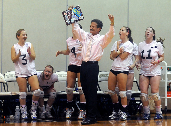 Western celebrates their winning point against Monticello. photo Ashley Twiggs