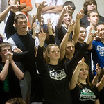 Monroe fans cheer for the boys basketball team during a game against Western. photo Ashley Twiggs