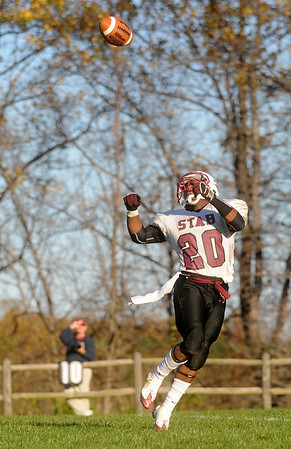 STAB's Aaron Clark looks for the ball in a game at Blue Ridge. photo Ashley Twiggs