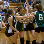 William Monroe celebrates a point against Western Albemarle during a home game in Stanardsville. photo Ashley Twiggs