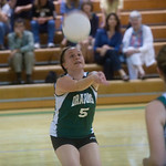 William Monroe's Haley Dodd (5) sets the ball against Western Albemarle during a home game in Stanardsville. photo Ashley Twiggs