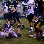 Western's Dom Losco fumbles the ball. photo Ashley Twiggs