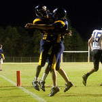 Fluvanna celebrates breaking up an end zone during a game against Western. photo Ashley Twiggs