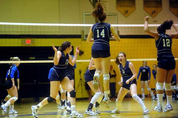 Flucos celebrates a point against Western Albemarle on Sept. 10, 2009. photo Ashley Twiggs