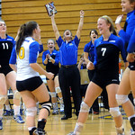 Western celebrates their win over Sherando during the Region II playoffs at Western. photo Ashley Twiggs