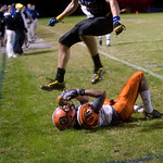 Western's Amir Waller runs out of bounds on an incomplete pass during a game against Western. photo Ashley Twiggs