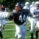 Oct. 3, 2009 - Woodberry's Ade Oyalowo carries the ball. photo Ashley Twiggs