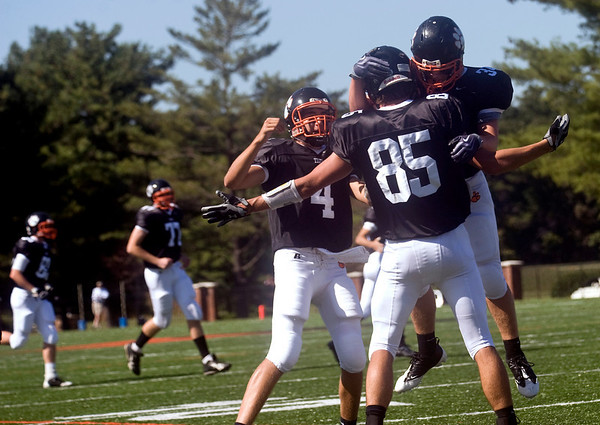 October 3, 2009 - Woodberry celebrates a touchdown against FUMA. photo Ashley Twiggs