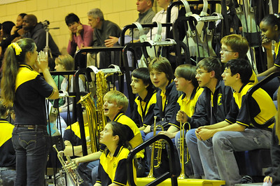 SPHS Band at the Basketball Game 1/22/2010