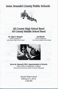 20120204 All County Band Program