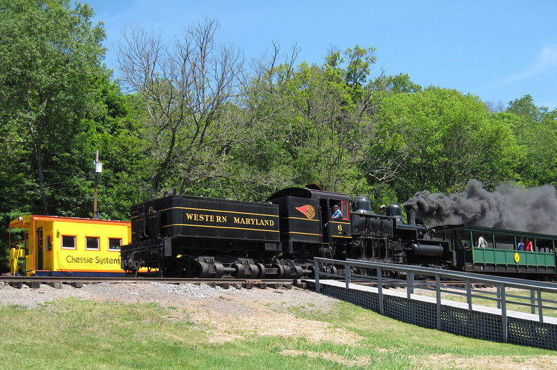 Cass Scenic Railroad State Park.  The 80 mile long Greenbrier River Trail ends in the town of Cass.