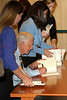 book signing of WE CAN HAVE PEACE IN THE HOLY LAND, New York, USA